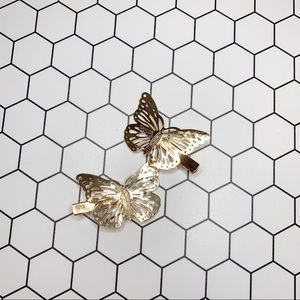 Free People Accessories - Butterfly hair clips